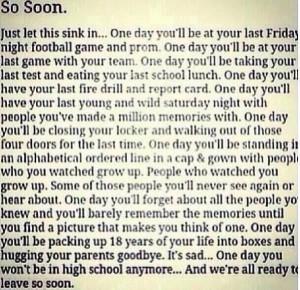 High School Memories Tumblr ~ So Soon. - High School Memories Quote ...