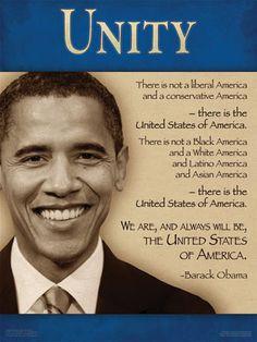 President Barack Obama on Unity - (Unity Poster & Banner from ...