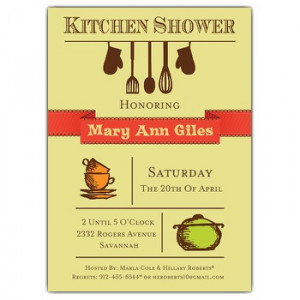 Wording suggestions for Kitchen Shower Invitations