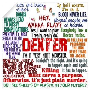 CafePress > Wall Art > Wall Decals > Best Dexter Quotes Wall Decal