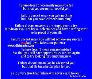 Failure Will Never Cease To Exist., Achieve, Brave, Fail, Failure, God ...