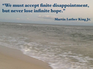 Quote Martin Luther King, Jr. on hope.