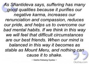 as shantideva says geshe kelsang gyatso