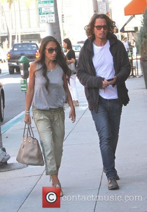 Chris Cornell and Vicky Karayiannis - Musician Chris Cornell with his ...