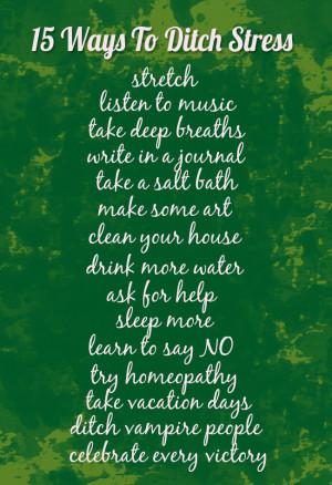 15 ways to get rid of stress