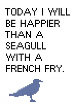 Happier Than A Seagull cross stitch pattern by cspinney on Etsy, $5.00