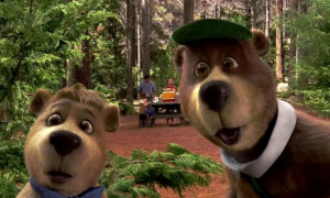 As talking bears are rare, Yogi and Boo Boo attract the attention of a ...