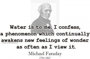 ... and youth sizes.: Famous Quotes, Quotes Water, Michael Faraday Quotes