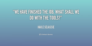 Haile Selassie I Quotes