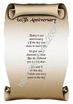 60th wedding anniversary verses