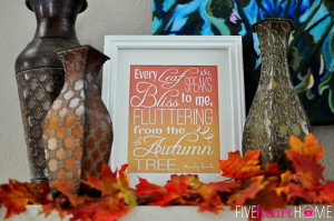 Fluttering Leaves Fall Quote, by Emily Bronte ~ Free Printable | {Five ...