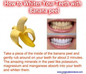 whiten teeth,Health tips ,benifits of banana,,healthy living,home made ...