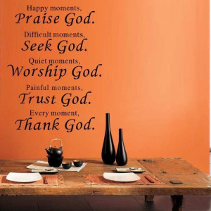 bible verse every moment thank god Wall quote sticker living room ...