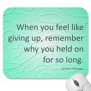 ... is to just forget everything that happened and give up giving up on
