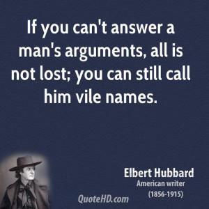 You Can Answer Man Arguments All Not Lost Still