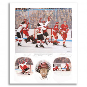 PAUL HENDERSON GOAL TEAM CANADA 1972 SIGNED AUTOGRAPHED