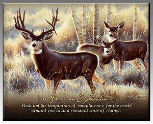Mule Deer Inspirational Wildlife Wall Plaque