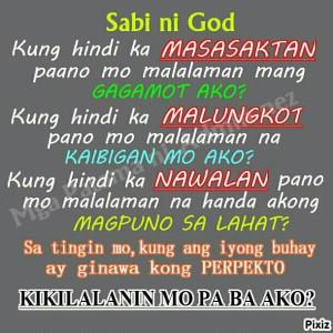 God Bless Quotes Tagalog ~ sabi ni God.....   Tagalog Quotes ...