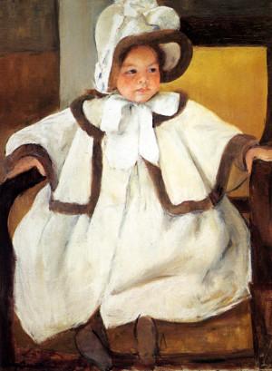Ellen Mary Cassatt in a White Coat: ca 1896