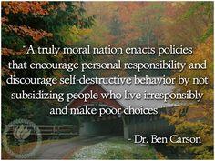 personal responsibility and discourage self-destructive behavior ...