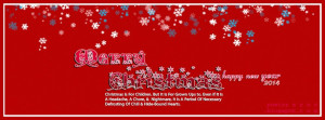 Red Christmas FB Cover Greetings Quote FB Timeline Free And Happy New ...
