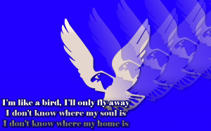 Like A Bird - Nelly Furtado Song Lyric Quote in Text Image