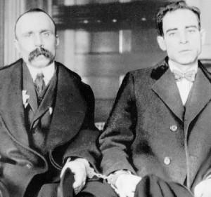 BartolomeoVanzetti andNicola Sacco (Dedham courthouse, 1923)