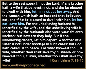 Adultery, Fornication, Marriage and Divorce