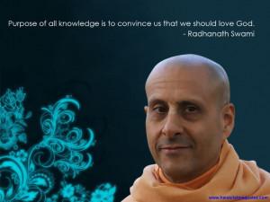 Radhanath Swami on Knowledge