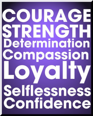 ... , Determination, Compassion, Loyalty, Selflessness and Confidence