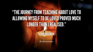 The journey from teaching about love to allowing myself to be loved ...