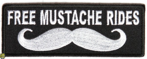 Free Mustache Rides Patch