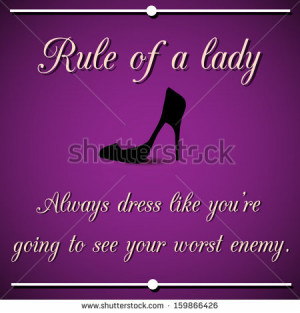Rules Of A Lady Quotes