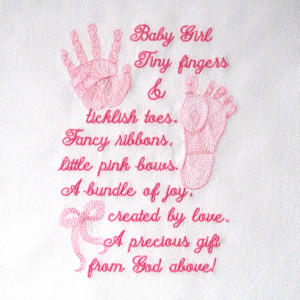 ... foot print handprint embroidery designs, realistic baby footprint