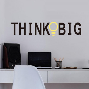 Personalized Think Big Wall Lettering Words Decal Vinyl Quote Sticker ...