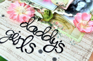 Daddy's Girls Layout - My Creative Scrapbook Limited Edition Kit ...