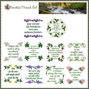 inspirational quotes n quilt block set 1 inspirational quotes n quilt ...