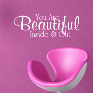 You-Are-Beautiful-inside-Out-Vinyl-Home-Wall-Art-Quote-Sticker-Decal ...