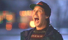 Chevy Chase in CHRISTMAS VACATION (1989).