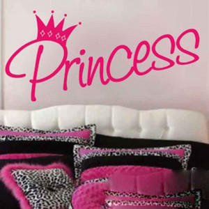 Princess-and-crown-kids-cute-Say-Quote-Word-Lettering-removable-Art ...