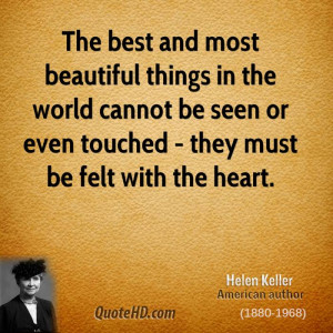 Helen Keller Quotes the Most Beautiful Things