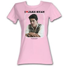 16 Sixteen Candles I Heart Jake Movie Funny Womens Cotton Fitted T ...