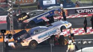 funny cars drag racing
