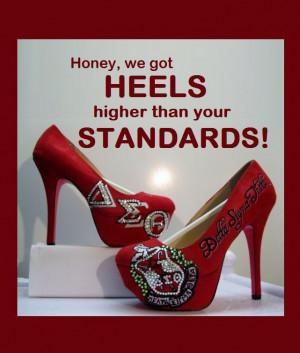 Delta Sigma Theta #DST Platform Heels #platform heels I soooo thought ...