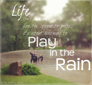 rain added a special element! The kids had a blast playing in the rain ...