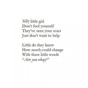 depression thinspo anorexia self-harm scars poetry poem bulima