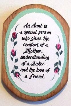 Aunt Verse on Wooden Plaque