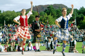 Look at Scottish guys wearing kilts - you could look at them and ...