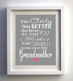Mother's Day Gift Unique print Grandmother gift quote chalkboard art ...