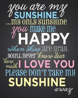 You Are My Sunshine by JrOlivasPhotography on Etsy, $24.00